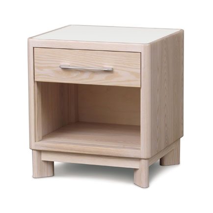 Contour Ash 1-Drawer Enclosed Shelf Nightstand