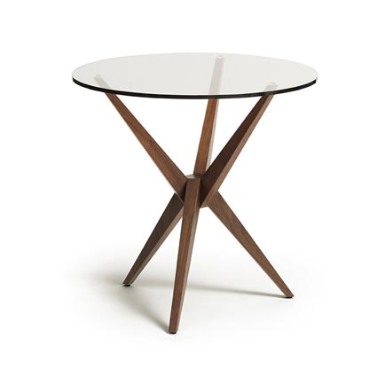 Converge Walnut Round End Table