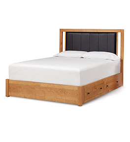 Dominion Storage Bed With Leather Headboard