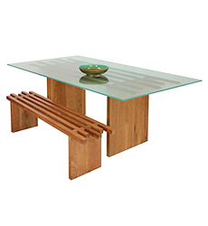 Dover Glass Top Dining Table
