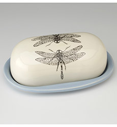 Butter Dish - Dragonfly