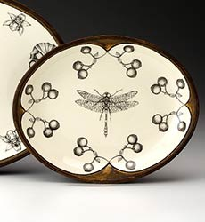 Small Oval Platter - Dragonfly