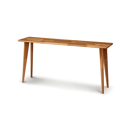Essentials Cherry Sofa Table with Wood Legs