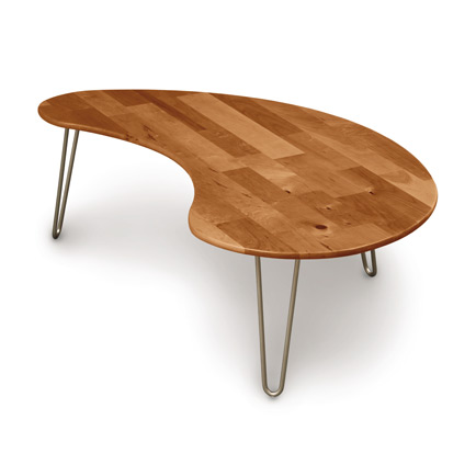 Essentials Cherry Kidney Shaped Coffee Table