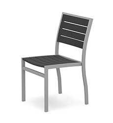 Euro Aluminum Dining Side Chair