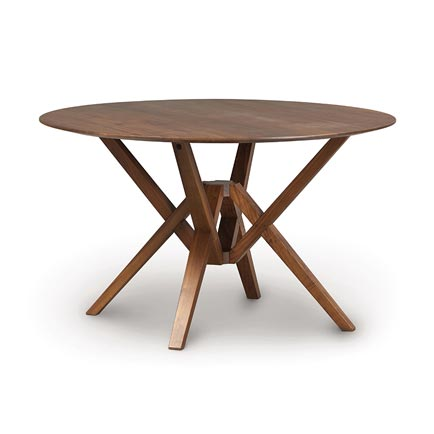 Exeter Walnut Round Dining Table
