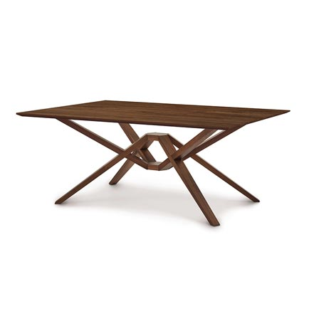 Exeter Walnut Solid Top Dining Table