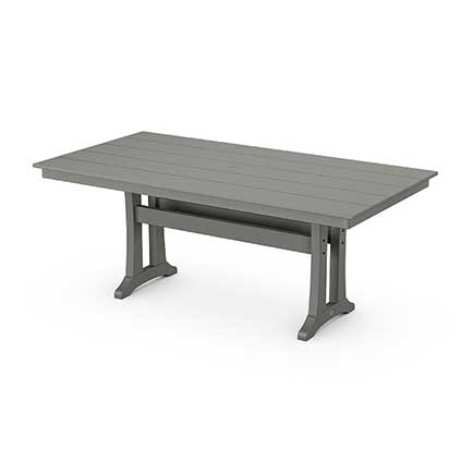 Farmhouse Trestle 37 x 72 Dining Table