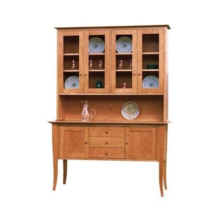 Classic Shaker Flare Leg Buffet and Hutch