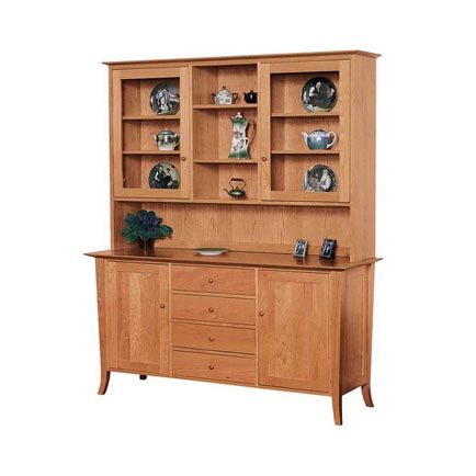 Classic Shaker Flare Leg Large Buffet and Hutch