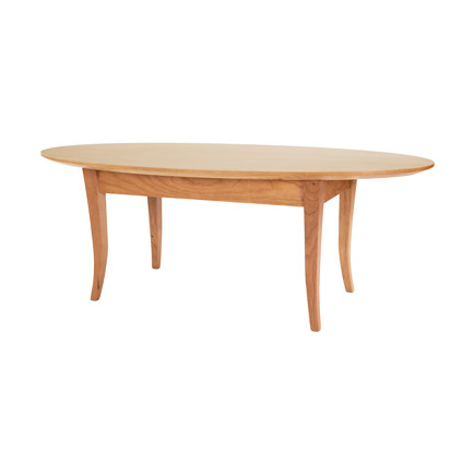 Classic Shaker Flare Leg Oval Coffee Table