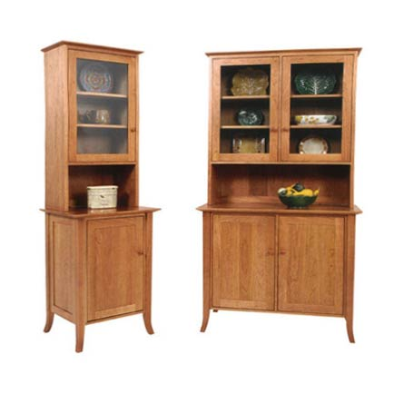 Small Classic Shaker Flare Leg Buffet and Hutch