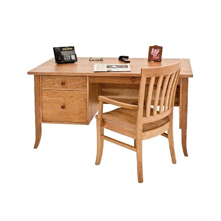 Small Flare Leg Wood Executive Desk