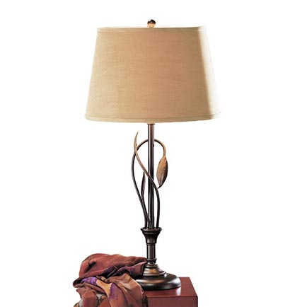 Forged Leaves and Vase Table Lamp