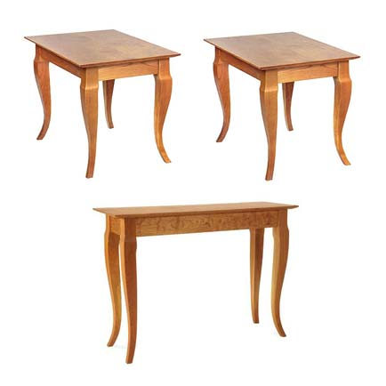 French Country Living Room Rectangular Table Set