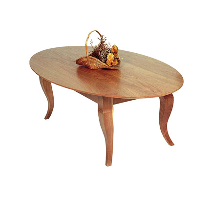 French Country Oval Coffee Table