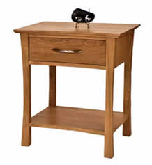 Green Mountain Open Shelf Night Stand