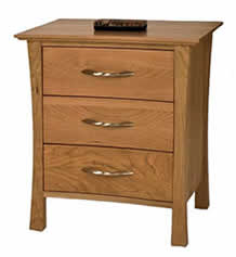 Green Mountain 3-Drawer Nightstand