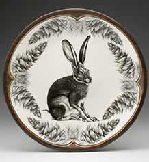 Large Round Platter - Hare