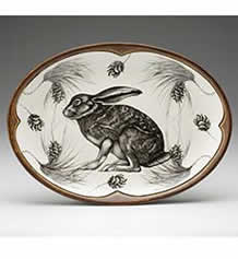 Small Oval Platter - Hare