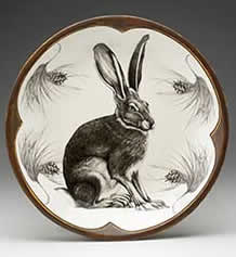 Small Round Platter - Hare