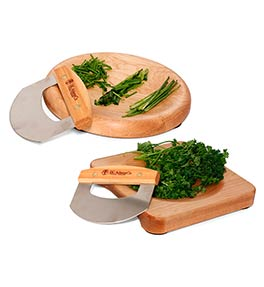 Maple Herb Bowl and Mezzaluna