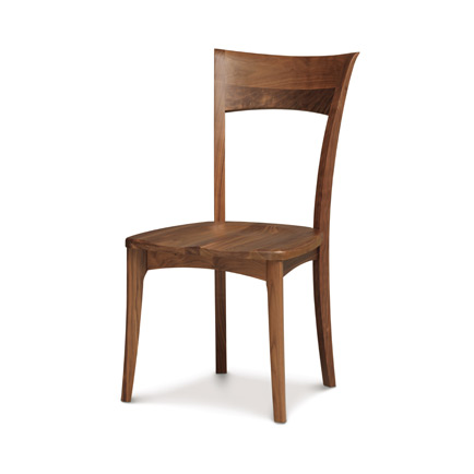 Ingrid Walnut Shaker Chair with Wood Seat