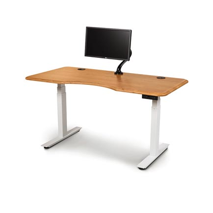 Invigo Cherry Sit-Stand Desk