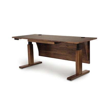 Invigo Walnut Sit-Stand Desk