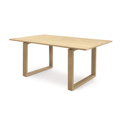 Iso Oak Solid Top Dining Table
