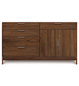 Kyoto Walnut 2-Door 5-Drawer Buffet