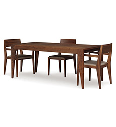 Kyoto Walnut Solid Top Dining Table