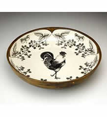 Large Pasta Bowl - Rooster