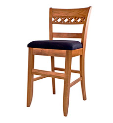 Lattice Back Barstool