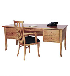Large Wood Executive Desk