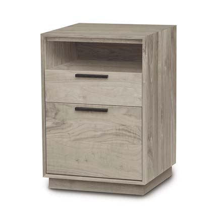 Linear Ash Narrow Rolling File Cabinet with Cubby
