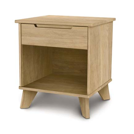 Linn Oak 1-Drawer Enclosed Shelf Nightstand