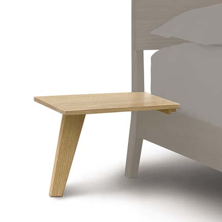 Linn Oak Attached Nightstand