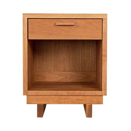 Loft 1-Drawer Enclosed Shelf Nightstand