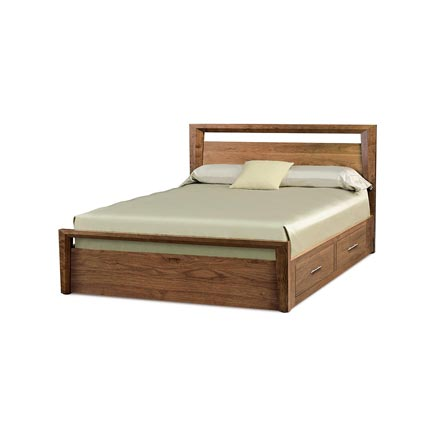 Mansfield Walnut Storage Bed