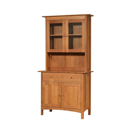 Modern Shaker Small Buffet & Hutch