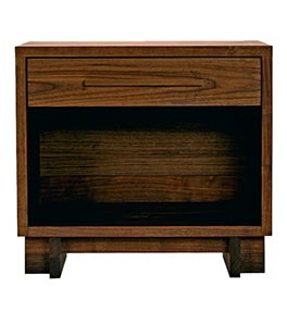 Modern American 1-Drawer Wide Nightstand