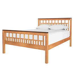 Modern American High Footboard Bed