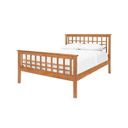 Modern Craftsman High Footboard Bed