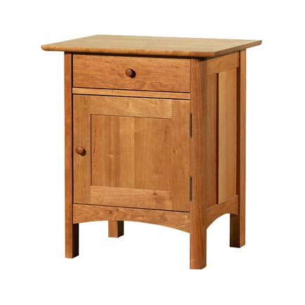 Modern Shaker 1-Drawer Nightstand with Door