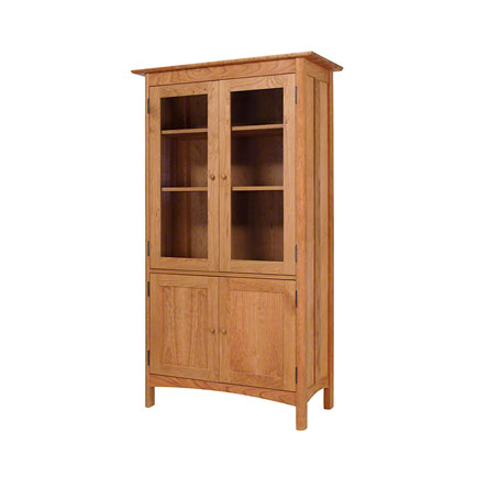 Modern Shaker 4-Door Bookcase