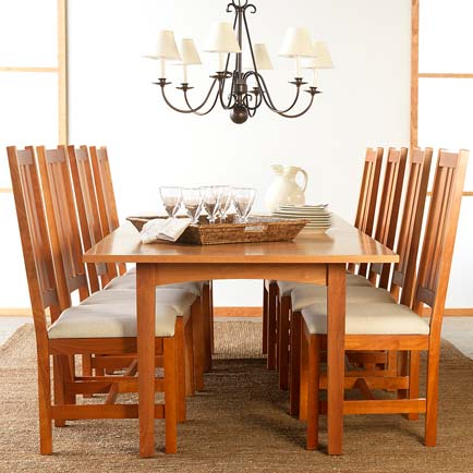 Amish Shaker Style Dining Table