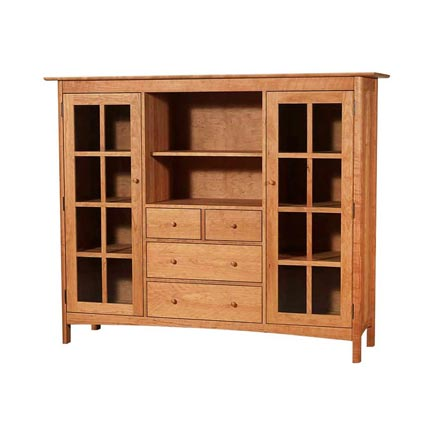 Modern Shaker Home Office Center Cabinet