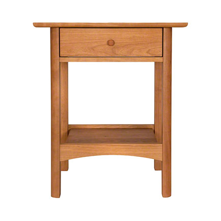 Modern Shaker 1-Drawer Open Shelf Nightstand