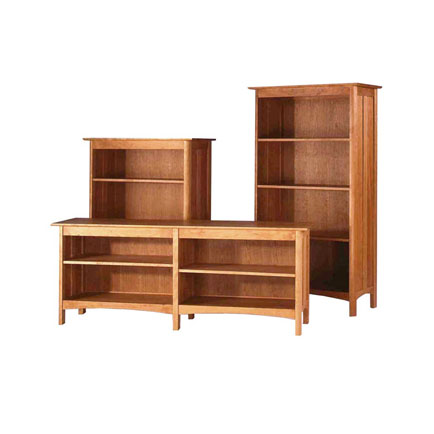 modern shaker furniture. Modern Shaker Custom Open Bookcases Furniture